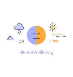 Mental health bipolar disorder concept vector