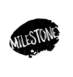 Milestone rubber stamp vector