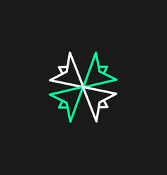 Minimalist logo line thin people vector