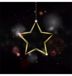 neon Christmas star decoration bakground vector image