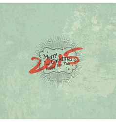 New year 2015 vintage styled design vector