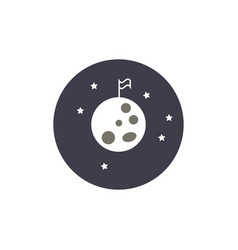 night at moon with flag vector image