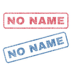 No name textile stamps vector