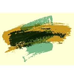 Painting brush strokes stain abstract background vector image