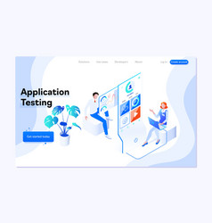 people testing the interface and usability vector image