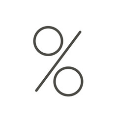 percent icon line discount symbol vector image