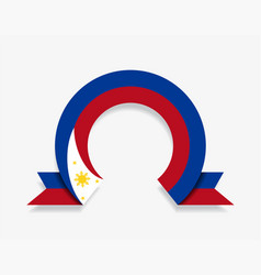 philippines flag rounded abstract background vector image