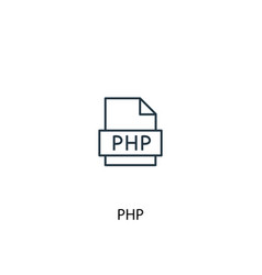 Php concept line icon simple element vector