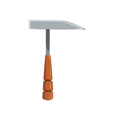 Pickaxe tool geological or mining industry vector