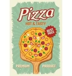 Pizza Retro Style Poster vector
