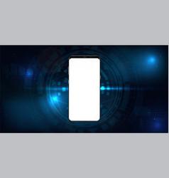 realistic black smartphone mockup vector image