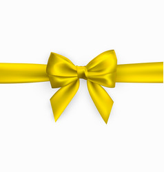 realistic golden yellow bow element for vector image