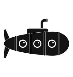 Retro submarine icon simple style vector