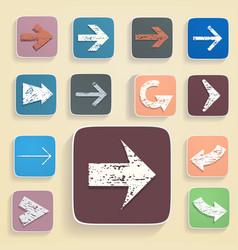 set of arrows in vintage style vector image