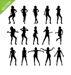 Sexy women adn dancing silhouettes vector image