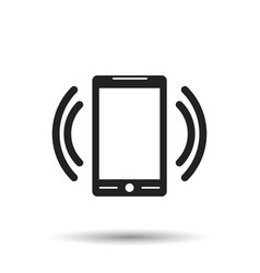 smart phone with email symbol on the screen in vector image