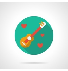 Song about love round flat style icon vector