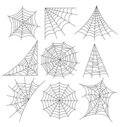 spider web icons photo realistic set vector image