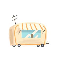 street food trailer fast food truck cartoon vector image vector image