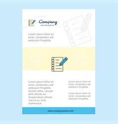 template layout for writing on notes comany vector image