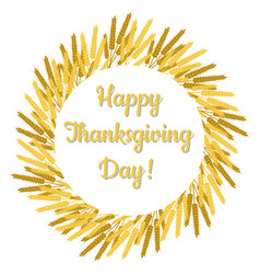 thanksgiving day in canada wreath of wheat vector image
