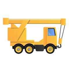 truck crane icon cartoon style vector image