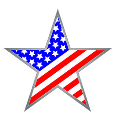 usa star icon symbol vector image