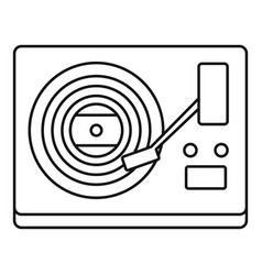vinyl player icon outline style vector image