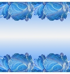 Winter frozen glass background Horizontal border vector
