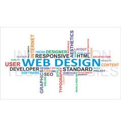 Word cloud web design vector