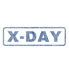 X-day textile stamp vector