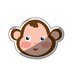 monkey cartoon drawing head vector image vector image