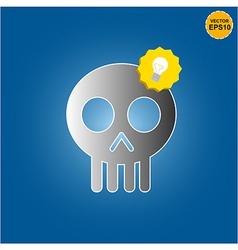 Skull get bright idea vector image vector image