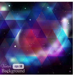 Triangle background with galaxy texture vector