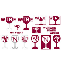 wine glass logo vector image