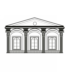 Architectural Classic House facade vector image