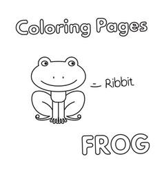 cartoon frog coloring book vector image vector image