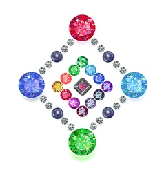 Diamond gemstones rhomboid set vector image vector image