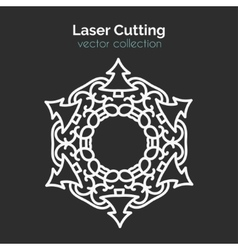 Laser cutting template christmas round card die vector