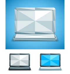 Low Poly Laptop vector image