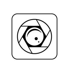 Minimalistic icon mobile camera for phone vector image vector image