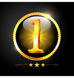 Number One Best Quality Sign vector image