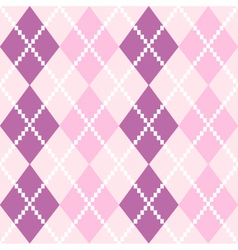 Seamless Argyle Pattern in pastel colors vector image vector image