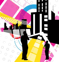 urban scene design vector image vector image