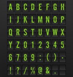 Airport Mechanical Flip Board Panel Font vector image vector image