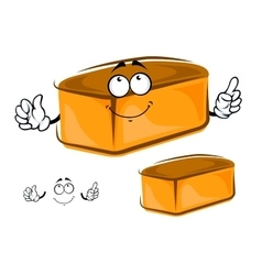 Funny loaf of white bread character vector image vector image