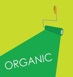organic roller green vector image vector image