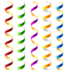 party streamers seamless vector image