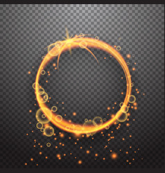 shining circle light effect design vector image