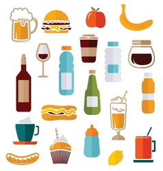 simple food icons1 vector image vector image
